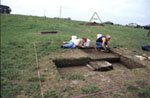 Excavations at historic period site of New Philadelphia, Illinois, directed by Dr. Fennell and others