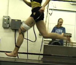 Conducting physiological tests on a runner