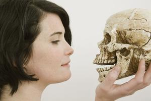 Student and Skull